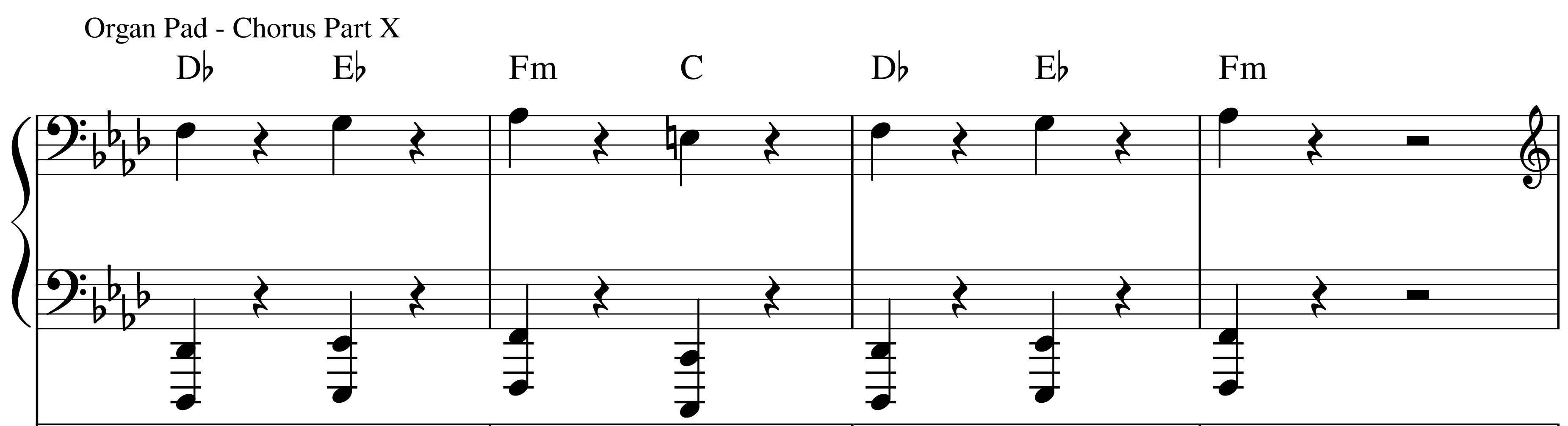 Organ - Chorus Part X